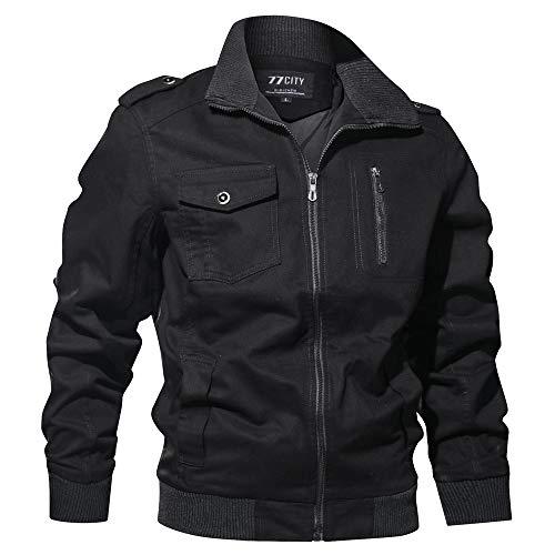 Celucke Winterjacke Herren mit Mehrfache Tasche,Männer Military Jacke Britannia Version Übergangsjacke Winterparka US Feldjacke
