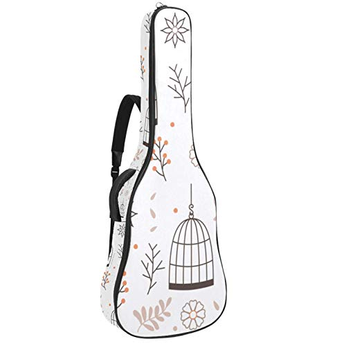 Bennigiry Bolsa de guitarra para colgar jaula de pájaros con flores para guitarrista