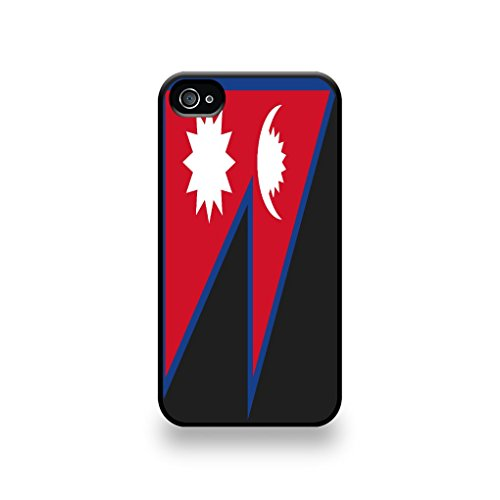 LD Case COQIP4_127 beschermhoes voor iPhone 4/4S, motief Nepal-vlag