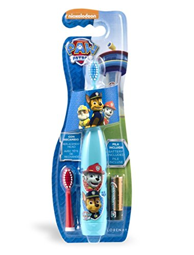 Pat Patrol Elektrische Zahnbürste in Blisterverpackung mit Ersatzkopf inkl. Batterie