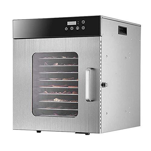 Eten Dehydrator Machine door elektriciteit, roestvrij staal, Microcomputer Temperature Control, grote capaciteit Eten Onderhouder regelbaar
