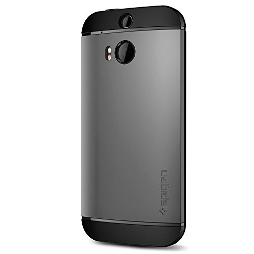Spigen Slim Armor HTC One M8 Case with Air Cushion Technology and Hybrid Drop Protection for HTC One M8 2014 - Gunmetal
