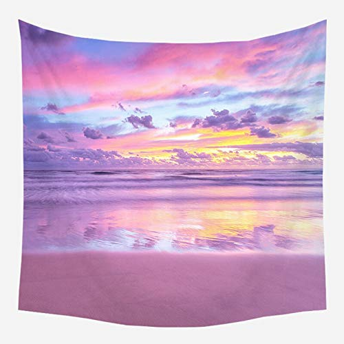 Pink Coast Tapestry Romantic Background Room Headboard Arras Astrology Wall Carpet Wall Hanging Decoration A8 130x150cm