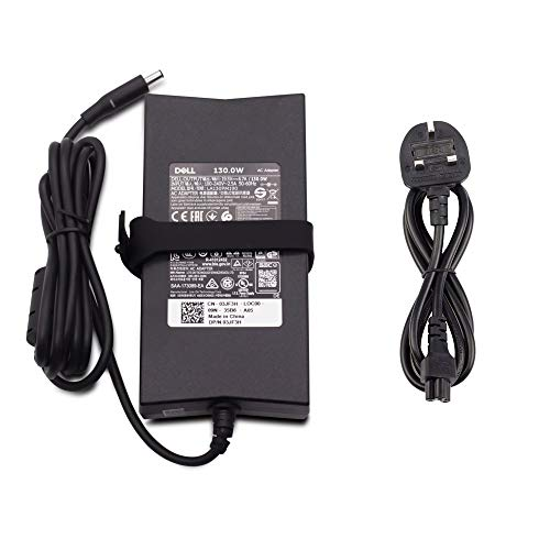 Dell 19.5V 6.7A 130W Adapter Inspiron 13 7347, 7348, AIO 7459, Precision 5510, 5520, 5530 Precision M3800, XPS 15 9530, 9550, 9560 DA130PM130 492-BBIP 6TTY6 Laptop with 4.5 x 5.0mm Pin Size