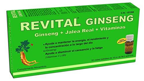 Revital Ginseng - Con Ginseng, Jalea Real y Vitaminas - 20 Viales