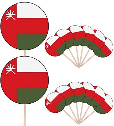 Oman Vlag Partij Voedsel Cake Cupcakes Picks Sticks Vlaggen Opstaan Decoraties Toppers (Pak van 14)
