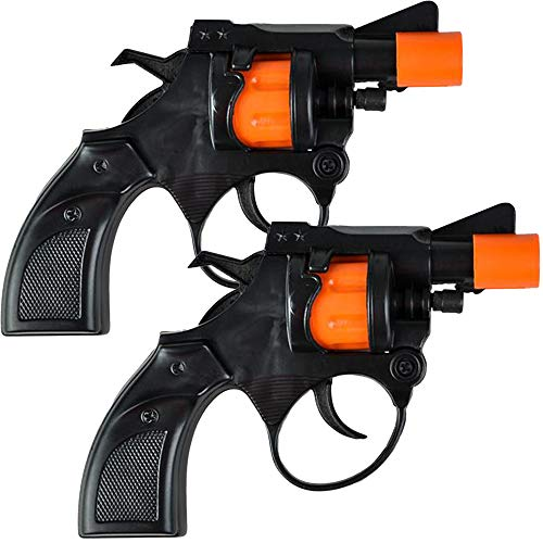 ArtCreativity Shot Cap Revolver Toy Gun for Kids, Set of 2, Cool Shooter Toys for Boys and Girls, Kid-Safe Revolver Toy Pistol for Active Fun, Great Christmas or Birthday Gift for Children