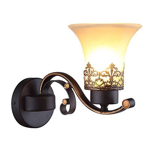 Yanqing Wandlamp voor slaapkamer, decoratie, smeedijzer, hotel, LED, creatief, voor slaapkamer, hotel, nachtkastje, wandlamp, verlichting