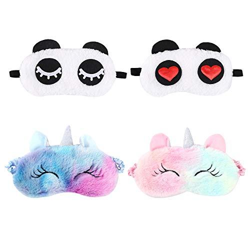 4 confezioni di peluche per adulti e bambini, animali e panda