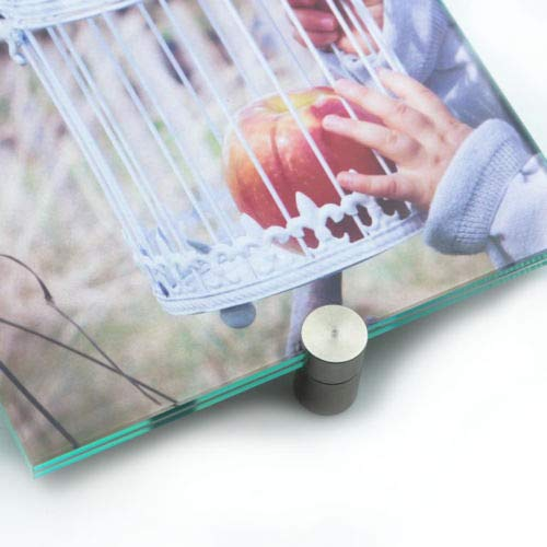 Glasklemme, 4er Set, Klemmbefestigung, Klemmhalter, Schildhalter, Edelstahl zur Auswahl für Plattenstärke 1,5-2, 3, 4, 5, 6, 8, 10 mm (5 mm)
