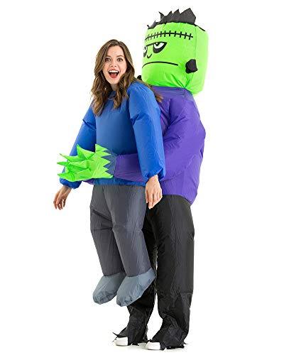 Hsctek Inflatable Frankenstein Costume Adult Men Women, Inflatable Blow Up Costume Frankenstein Abduction Costume Youth, Inflatable Frankenstein Carrying Me Holding Man Halloween Costume Teen