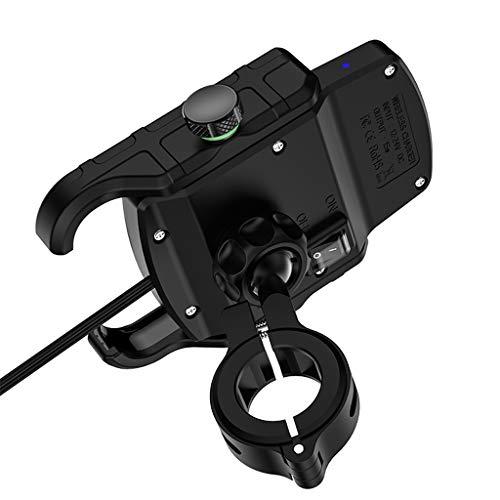 HOTPINK1 Impermeable 12 V motocicleta teléfono Qi carga rápida cargador inalámbrico soporte soporte soporte para iPhone Xs MAX XR X 8 Huawei