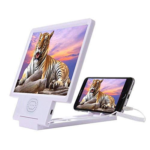 Lupas, lupa de pantalla, teléfono celular, 8.5 pulgadas, amplificador de video de película hd 3d con soporte plegable compatible con Iphone X / 8/8 Plus / 7 / 7plus y todos los demás teléfonos inteli