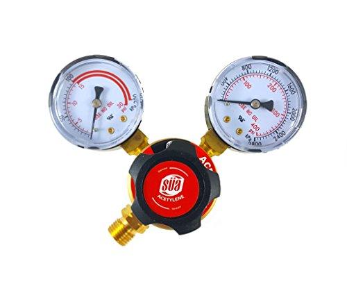 SÜA - Acetylene Regulator Welding Gas Gauges - CGA-200 - Rear Connector - LDP series
