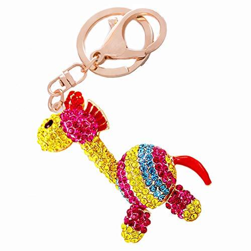 ZHTCD Strass Exquisite Mooie zebra sleutelhanger vrouwen handtas sleutelring auto sleutelhouder tas accessoire vrienden geschenk