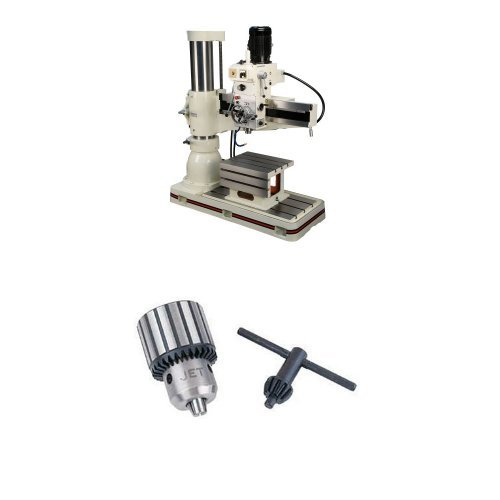 Affordable JET J-1230R-4 5-Horsepower 460-Volt Radial Drill Press with TDC-750, Taper Mount Drill Ch...