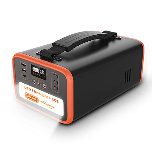 NECESPOW Portable Power Station,322Wh/100800mAh Lifepo4 Battery Backup Supply Solar Generator,320W(Peak 600W)Pure Sine Wave 2 AC Outlet,QC3.0 + USB-C PD 60W for Camping CPAP Outdoor RV Emergency