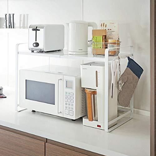 Wvfguj Kronleuchter Küchen einziehbare Mikrowelle Regal Ofenrost Etage 2 Schicht multifunktionales Abstellfläche