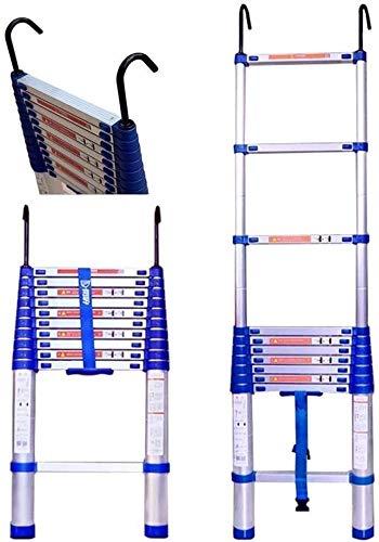 LYQQQQ Extensión de Aluminio Escalera Plegable telescópica Escalera con Gancho y Antideslizante...