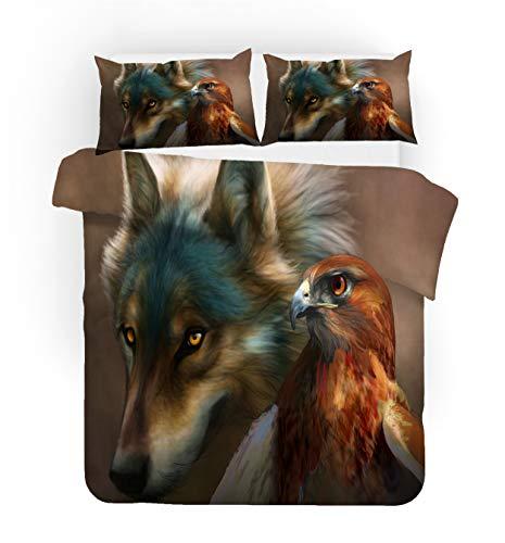 NYLIN Bettbezüge Wolf Wäscheset...