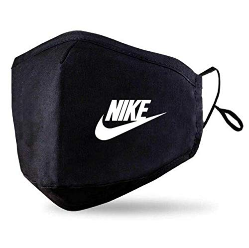 Black Face Mask With 2 Free PM2.5 Filters (Washable Durable & Reusable) Custom Nike Classic Face Cover