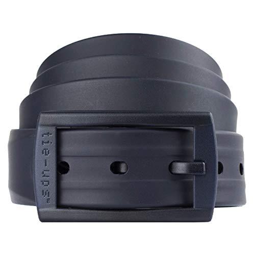tie-ups Cintura in Gomma con Fibbia in Plastica   Nickel Free - Nessun Metallo   Cintura Uomo e Donna   Colore Dark Blue Recycle