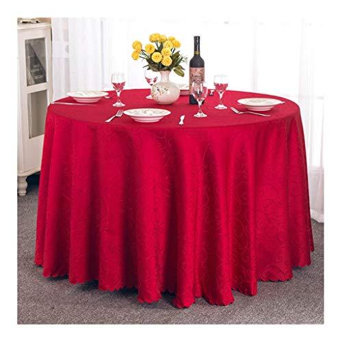 Qiao jin tafelkleed wit hotel restaurant rond tafelkleed Home eettafel linnen afdekking grill camping polyester vezel 180 cm tafelkleed