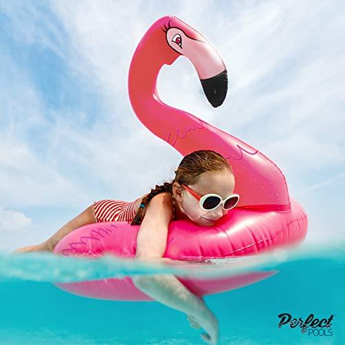 Perfect Pools Offizieller Aufblasbarer Giant Pink Flamingo Gummiring Schwimmbecken Schwimmer 110cm
