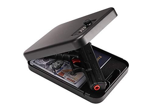 Gun Safe for Pistols, Quick-Access Handgun Lock Box for...