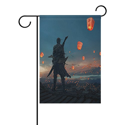 LIANCHENYI Sky Laterne doppelseitig Familie Flagge Polyester Outdoor Flagge Home Party Decro Garten Flagge 30,5 x 45,7 cm