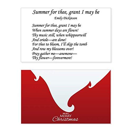 Poëzie Dickinson Zomer van Thee Vakantie Vrolijke Kerstkaart Kerstmis Vintage Boodschap