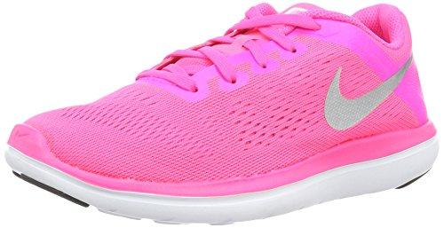 Nike Flex 2016 RN (TDV), Zapatos de Primeros Pasos para Bebés, Rosa (Pink Blast/Metallic Silver-Black), 23 1/2