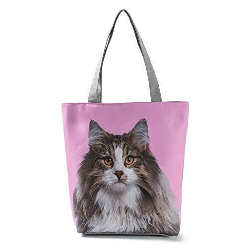 MoGist Style4 Sac de plage pour femme Motif chien chat