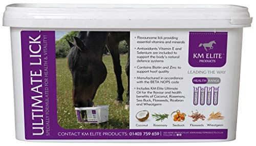 KM Ultimate Oil Lick Combination of Vitamins & Minerals | Coconut Flavour | Over 190 Bioactive Nutrients | Ultimate Choice for Horse Health