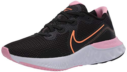 Nike Women's Renew Run Running Shoes (Black/Pink/Orange, Numeric_9_Point_5)