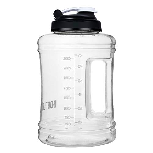 Water Bottle 2.5 Litre BPA Free Leakproof Portable Outdoor Camping 2.5L Gym Jug Large Water Bottle with Handle