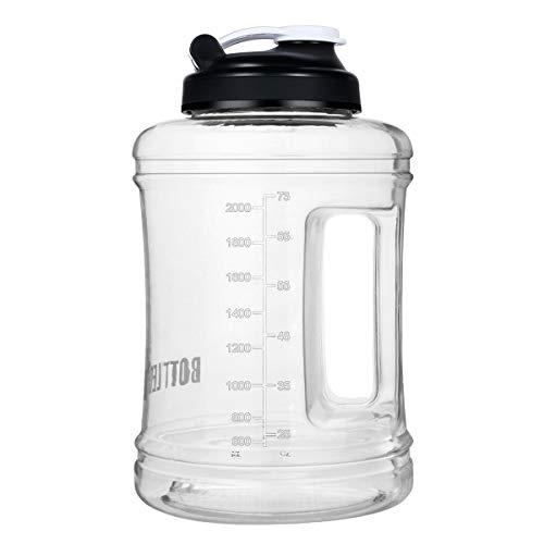 VENNERLI Palestra Borraccia 2.5 Litri Bottiglia per Acqua in Plastica BPA Free, Resistente, Tappo Antigoccia, Ideale per Bambini,Scuola,Sport,Campeggio,Yoga,Palestra,Ciclismo