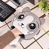 haplife マウスパット加熱タイプ 防寒対策 省エネ ホットマウスパット USBハンドウォーマー 防寒グッズ 加熱パッドマウス 可愛い おしゃれ 省電力 (ブラウン1)