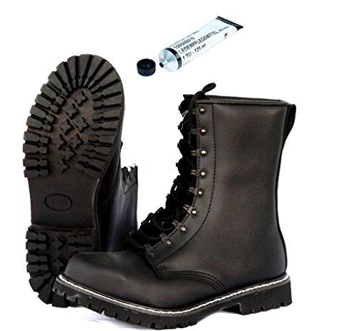AOS-Outdoor TSR BW Springerstiefel Kampfstiefel + Schuhpflegemittel 43