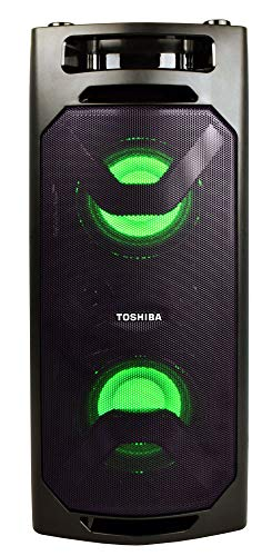 Toshiba TY-ASC50 Wireless Speaker System w/FM Stereo Radio   50 Watt Outdoor Bluetooth Speaker   Party Speakers w/Rechargeable Batteries & MP3 Function   3.5mm Stereo Earphone Jack   2 USB Inputs