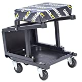 Omega Lift 91305 2-in-1 Mechanics Creeper Seat/Step Stool, 7.88' Height, 17.72' Width, 15.75' Length