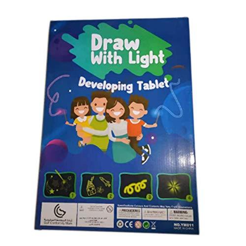 QiKun-Home Dibujo mágico Tablero de Efectos de luz Tablero de Dibujo Tableta Dibujo Niños creativos Pluma Regalo Arte Ligero Dibujo Juguete Multicolor A3 Tipo 1 300x20x420