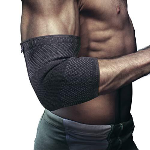 EliteAthlete Ellenbogenbandage - Premium Kompressionsbandage – Bandage für Sport, Fitness, Alltag – rutschfeste Ellenbogenbandagen Männer & Frauen