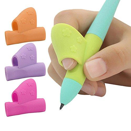 AEAP Color al Azar 3 lápices manija Derecha de la Mano Ayuda a los niños Corrección Holding Pluma y la Escritura Postura Magia Adapta a lápiz Blando