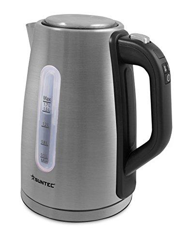 SUNTEC Hervidor de agua electrico | Calentador para 1,7 litros | Tetera...