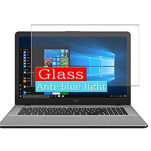 VacFun Filtro Luz Azul Vidrio Templado Protector de Pantalla para ASUS VivoBook Pro 17 N705UD 17.3' Visible Area, 9H Cristal Screen Protector Anti Blue Light Filter(Cobertura no Completa)