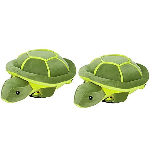 PHLPS Linda tortuga mar tortuga a prueba de golpes protector de esquí almohadilla de protección contra cadera anti-caída cadera almohadillas dibujos animados peluche pistas de rodilla de esquí niño pa