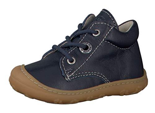 RICOSTA Pepino Unisex - Kinder Stiefel Cory, WMS: Mittel, Spielen Freizeit Boots schnürstiefel Leder Kind-er Kids junior,Nautic,24 EU / 7 UK