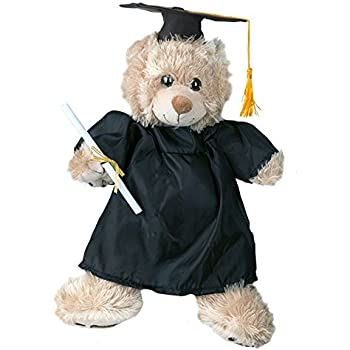 Graduation Cap /& Gown Outfit Teddy Bear Clothes Fits Most 14-18 Build-a-bear and Make Your Own Stuffed Animals Bear Factory 20049