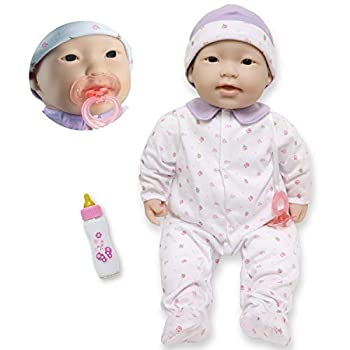 JC Toys - La Baby | Asian 20-inch Large Soft Body Baby Doll | Washable | Removable Purple Outfit w/ Hat and Pacifier | For Children 2 Years +